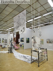 Exhibition of the contemporary art in Moscow