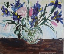 Irises and tulips