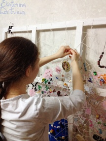 "The artist Ekaterina Dmitrieva behind work on ""Memory Lace"""