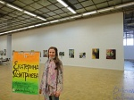 Painting exhibition in the Central House of Artists in Moscow