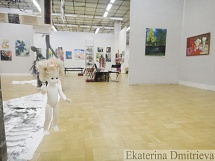Panorama of an exhibition and installation in Moscow