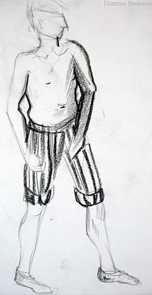 A man in  striped pants